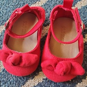 Red baby shoes. 0-3 month infant Old Navy